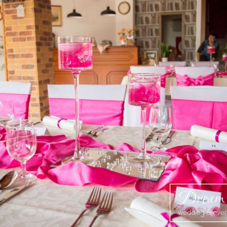 Svadobná výzdoba Reštaurácia Tücsök