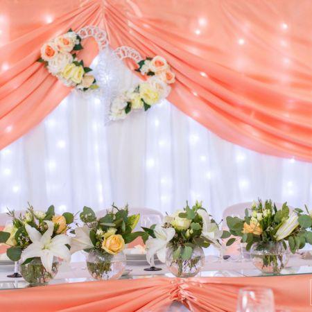 Svadobná výzdoba reštaurácie Marica