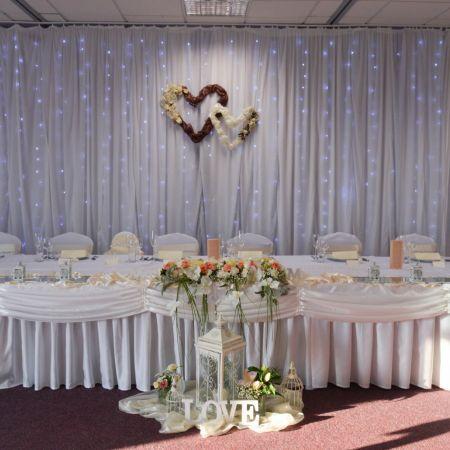 Svadobná výzdoba Hotel Kormorán