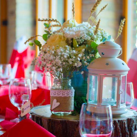 Svadobná výzdoba Reštaurácie Trófea